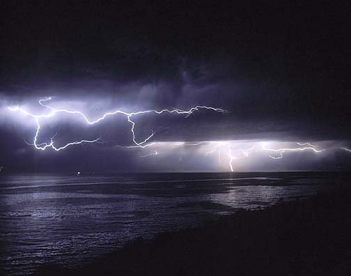 thunder rolled across the sky